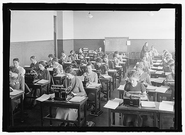 Typing Class- BCC H.S. circa 1935       *Courtesy of Library of Congress
