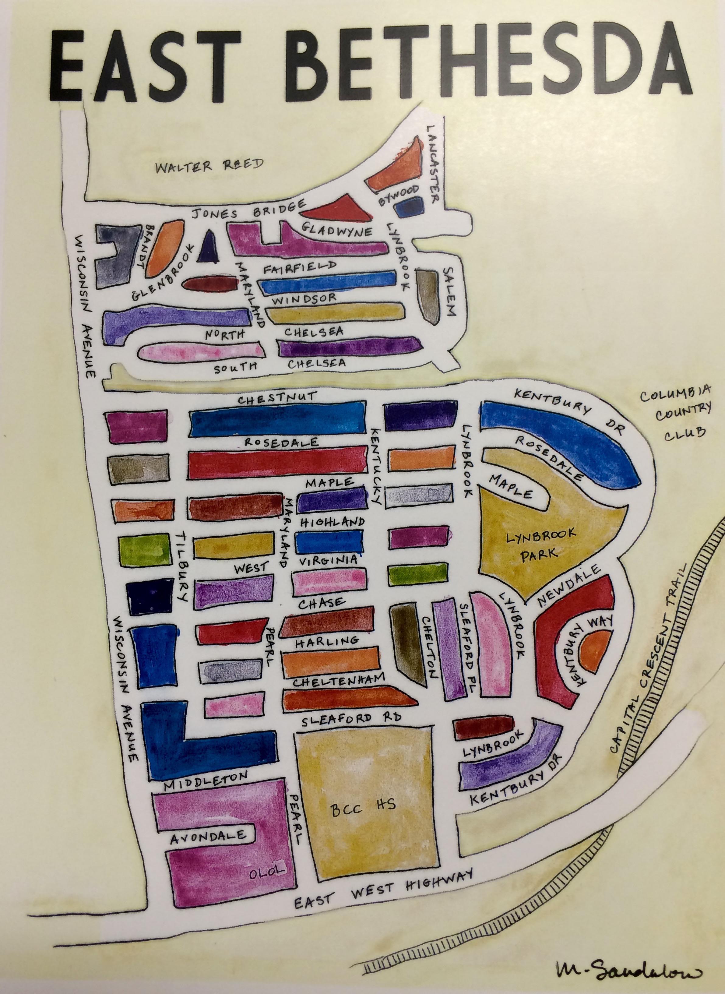 East Bethesda Map