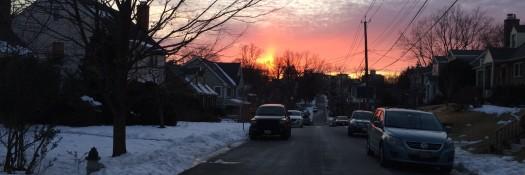 Sunset West Virginia Avenue